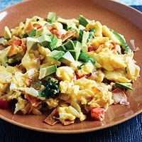 Rachel Ray's Mighty Migas.. I love breakfast..I love mexican food.. it's like both in a dish.