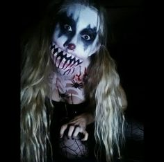Because who doesn't like clowns and spiders ??  #spider #clown #horror #makeup