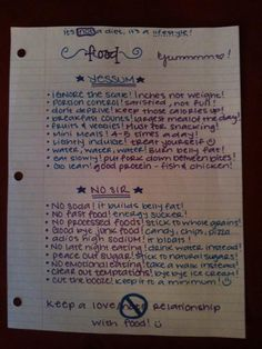Just a few of my personal nutrition tips!
