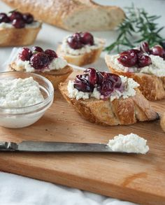 Rosemary Roasted Grapes and Cashew Cheese Crostini