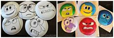 Créer des masques du film Vice-versa avec des assiettes en carton