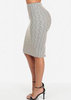 Knit High Waisted Midi Skirt (Rope)