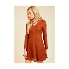 Mid-length Long Sleeve A-line Your Next Texture Sweater Dress (£49) ❤ liked on Polyvore featuring dresses, apparel, fashion dress, red, long sleeve sweater dress, red a line dress, red long sleeve dress, long sleeve a line dress and long-sleeve mini dress