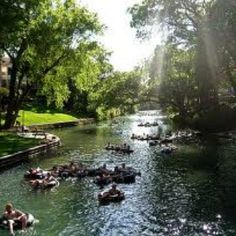 Tubing down the Guadalupe river in San Antonio, TX. So much fun! A little bit relaxing, a little bit exciting!