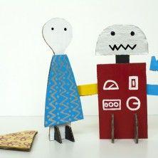 Cardboard Velcro Dolls for Harper's Bazaar
