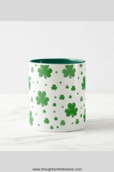 $16.85 So many styles of DIY St. Patrick's Day beer mugs and coffee cups.  Unique styles that are funny, cute, vintage, Disney, and quotes all St. Patrick's Day themed coffee mugs and Beer Steins.  Coffee Mug - Ceramic Coffee Mug - Tea - Quote Mug- Tea Lover - Gift Idea - Tea Cup - Tea Time – St. Patrick's Day- beer stein. #affiliate, #thoughtsinthebreeze shamrock_mug