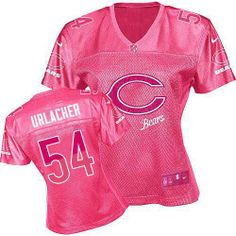 $109.99 Women's Nike Chicago Bears #54 Brian Urlacher Elite Fem Fan Pink Jersey