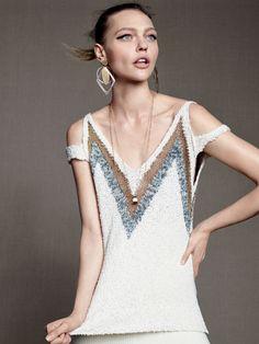 Slinking Ahead: #SashaPivovarova by #KarimSadli for #VogueUS May 2015