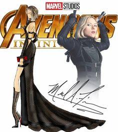 Marvel Costumes Reimagined As Elegant Evening Dresses Moda Marvel, Marvel Avengers, Marvel Comics, Black Widow, Marvel Inspired Outfits, Marvel Dress, Marvel Fashion, Geek Fashion, Fashion Illustrations