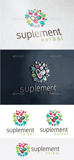 Herbal Suplement Logo Template Vector EPS, AI Illustrator