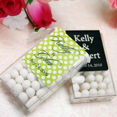 Tic tacs with wedding label