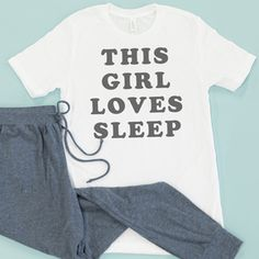 This Girl Loves Sleep Graphic Tee