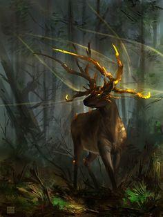 Elara - Deer guardian by *Sickbrush http-//sickbrush.deviantart.com/art/Elara-Deer-guardian-392888237 Blessings  Simon