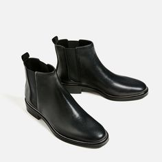 Image 3 of STRETCH LEATHER ANKLE BOOTS from Zara