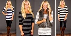 Striped Button Back with Elbow Patch S-XL | Jane