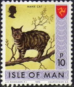 Manx Cat, Isle of Man .10p stamp http://www.catstamps.org/News/Newsarchive%202011_1.html