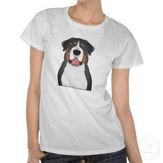 Greater Swiss Mountain Dog Cartoon T Shirts