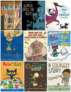 Fun Book Finds For October 2016: Pete the Cat, bedtime, dragons, writing stories, snowy days, friends, Thanksgiving, rain - 3Dinosaurs.com