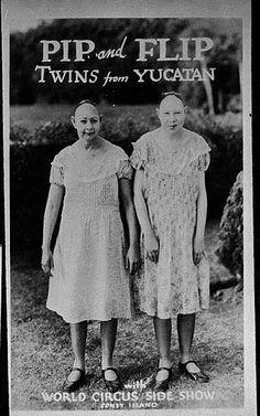 Photo vaudeville and Side Show Freak act 1930's Pip & Flip.
