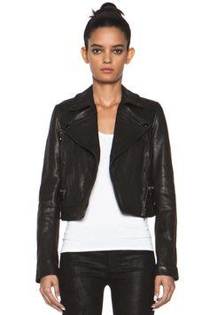 Proenza Schouler|Lambskin Motorcycle Jacket in Black
