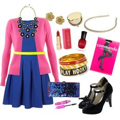 this reminds me of Penelope Garcia from Criminal Minds! - Plus Size: Dream Outfit for When Fashion Designers Get With The Program, created by artfulartsyamy on Polyvore