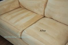 Clean microfiber couch to new again.
