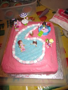 6th birthday LEGO friends girls birthday cake