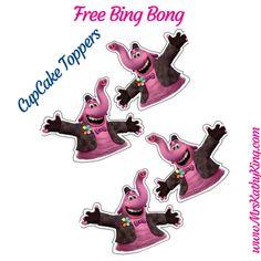 Free Bing Bong Party Pack Cupcake Topper