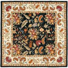 Safavieh Chelsea Alaia Hand Hooked Wool Area Rug, Black