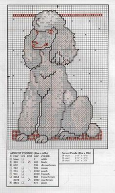 Poodles – Smart Active and Proud Cross Stitch Pillow, Cross Stitch Embroidery, Hand Embroidery, Modern Cross Stitch, Cross Stitch Designs, Cross Stitch Patterns, Poodle Drawing, Dog Pattern, Pattern Design