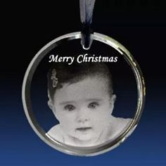 Engraved Photo and Message Circle Ornament $25.00