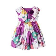 Cherokee® Infant Toddler Girls' Short-Sleeve Dress - Multi Floral