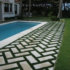 Pavers and grass for patio or driveway