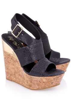 Steffie Speckled Leather Wedges by Alice + Olivia | Buy from Alice + Olivia online at London Boutiques