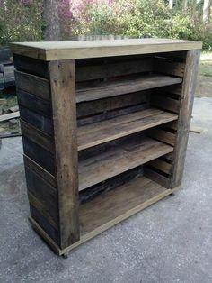 Pallet Bookshelf Bookcases & Bookshelves