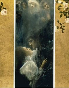 클림트 '사랑'(1815)    앞서 본 '키스'를 그린 작가 클림트의 다른 작품 '사랑'.