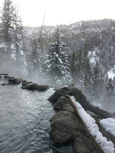 San Antonio hot springs in the Sante Fe National Forest, New Mexico