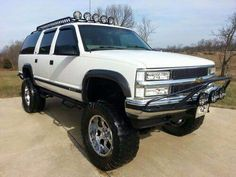 Sell used Beautiful Lifted Suburban LT Trick Trucks custom Monster Truck ! LOOK! in Summit Point, West Virginia, United States Custom Chevy Trucks, Lifted Chevy Trucks, Classic Chevy Trucks, Gm Trucks, Diesel Trucks, Cool Trucks, Pickup Trucks, Chevy 4x4, Lifted Tahoe