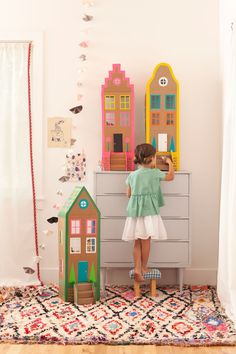 Duct Tape Brownstone Dollhouses! from Merrilee Liddiard's book PLAYFUL; photo by Nicole Gerulat #playfultoysandcrafts