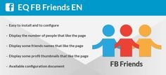 The facebook Friends module displays some profile thumbnails...Joomla Extension