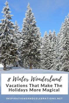 To inspire your next getaway this season, today's travel roundup features 8 winter wonderland vacations that make the holidays more magical. Romantic Vacations, Romantic Getaway, Dream Vacations, Vacation Spots, Vacation Ideas, Vacation Places, Winter Travel, Holiday Travel, Christmas Travel