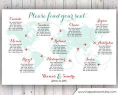 Wedding Seating Chart FREE RUSH SERVICE 12 hours von HappyBlueCat