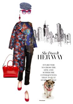 """The epitome of chic"" by pensivepeacock ❤ liked on Polyvore featuring Christian Louboutin, Romance Was Born, Emilio Pucci, Givenchy, Italia Independent, Oscar de la Renta and Dolce&Gabbana"