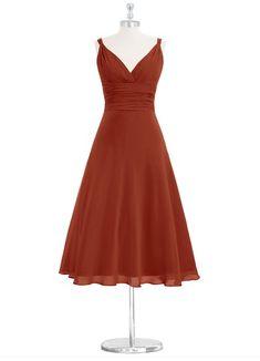 AZAZIE JAYLA. Jayla is our graceful tea-length bridesmaid gown made of chiffon. #Bridesmaid #Wedding #CustomDresses #AZAZIE