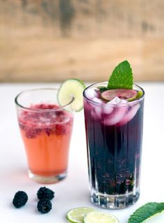 Use berries, mint, agave and club soda to make these spritzers.