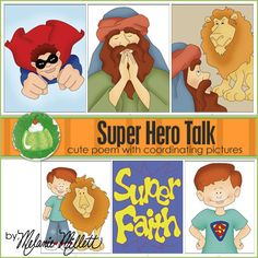 $2.50 SUPER HERO Primary Talk - Downloadable File