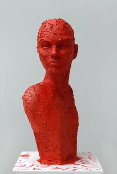 GRIMILDE  Lipstick Sculptures  90x 30x30 cm  Silvio Giordano 2012  Scultura in pasta di Rossetto  ( Serie:The silver Mirror