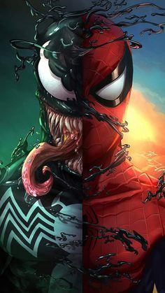 Spider vs Venom - iPhone Wallpapers