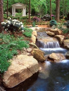 Design Your Dream Home With Relaxing Garden And Backyard Waterfalls                                                                                                                                                                                 More