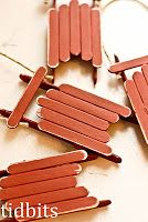 popcicle stick sled With cinnamon sticks on the bottom to smell good :)